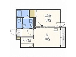 北海道札幌市白石区本通2丁目南の賃貸マンションの間取り