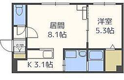 グランメールNJ.1[4階]の間取り