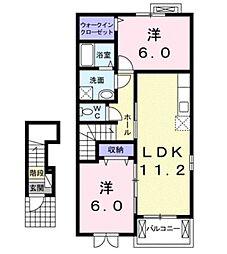 リバーサイド ローレル[2階]の間取り