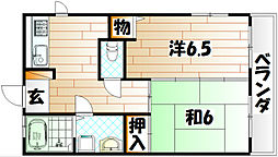 エクレール中井[5階]の間取り