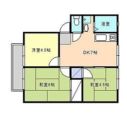 西山アーバン[2階]の間取り