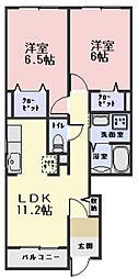 ヴェルスクエアB棟[1階]の間取り
