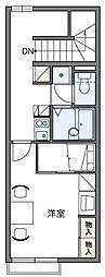 レオパレス富光II[2階]の間取り
