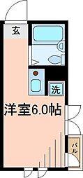 東京都葛飾区四つ木1の賃貸アパートの間取り