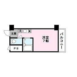 ハイツ玉川5[8階]の間取り