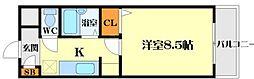 アルカサル江坂[4階]の間取り