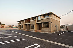 岡山県赤磐市下市の賃貸アパートの外観