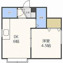 プラザインN11 I・II[2階]の間取り
