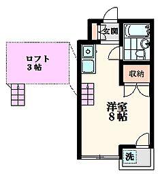 コーポ丸井[2階]の間取り