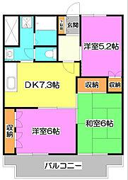 ニューライトマンション[4階]の間取り