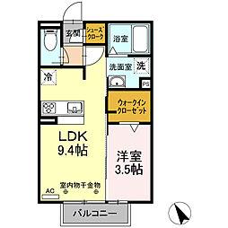 D−room尾平[2階]の間取り
