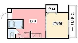 メニーローザ甲東園[103号室]の間取り