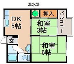 近江八幡ドリームマンションB棟[2階]の間取り