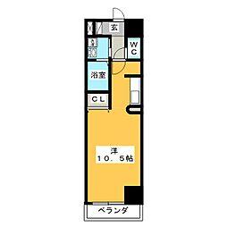 CROWN SUGIMOTO−G[3階]の間取り