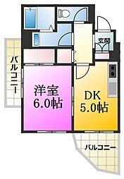 東京都江戸川区谷河内2丁目の賃貸マンションの間取り