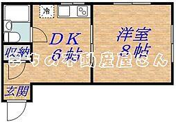 メゾン新森[4階]の間取り