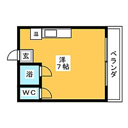 ウイングルートII[4階]の間取り