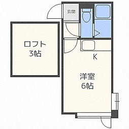 マリオンビスタ栄通 2階1Kの間取り
