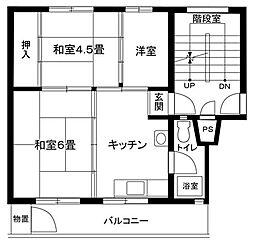 竹山第1[1102-251号室]の間取り