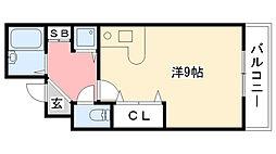 レジデンス甲陽[4階]の間取り