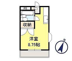 ハイツONEBOX[2階]の間取り