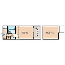 奈良県奈良市川之上町の賃貸マンションの間取り