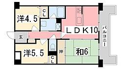 ネオハイツ花の北[105号室]の間取り