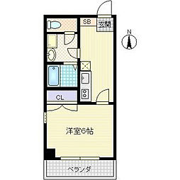 JUNWAIII[6階]の間取り