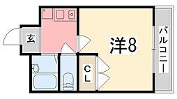 グランボナール下野田II[302号室]の間取り