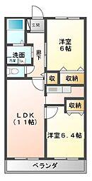 レインボウII[2階]の間取り