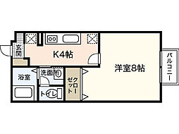 Tフラット[1階]の間取り