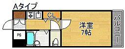 三研BLDアンビション大阪[7階]の間取り