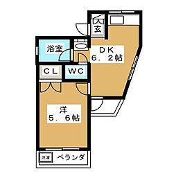 ピラ イムラ[3階]の間取り