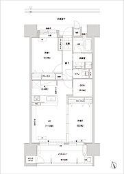 アーバンパレス六ツ門セントラルベース[14階]の間取り