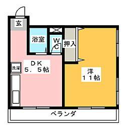 fメゾン雲雀ヶ岡[3階]の間取り