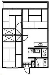 水野マンション[203号室]の間取り
