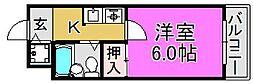 HCS堺東ハイツ[2階]の間取り