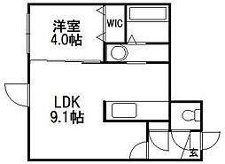 北海道札幌市中央区南十条西7の賃貸マンションの間取り
