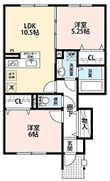 東京都府中市押立町4丁目の賃貸マンションの間取り