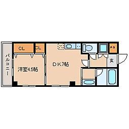 エクシージュ武庫川[3階]の間取り