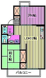 押田ハイツ宮原[1階]の間取り
