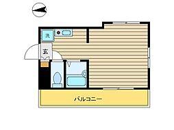 東京都目黒区駒場2丁目の賃貸アパートの間取り