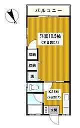 神奈川県横浜市神奈川区羽沢南1丁目の賃貸マンションの間取り