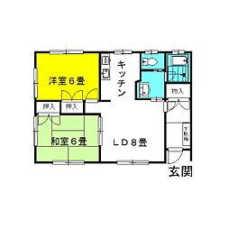 茨城県神栖市日川の賃貸アパートの間取り