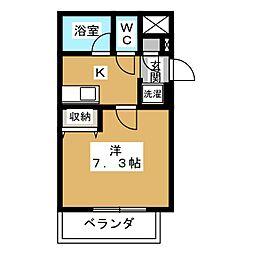 サンシティ烏丸高辻[7階]の間取り