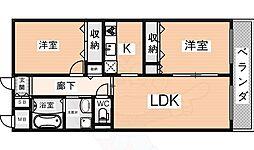 ラヴィーン・エミネンス 3階2LDKの間取り