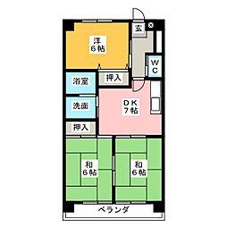 コンフォール高蔵寺[3階]の間取り