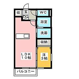 ADESSO E[2階]の間取り