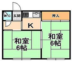 兵庫県伊丹市桑津1丁目の賃貸アパートの間取り