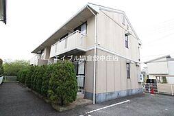 岡山県倉敷市平田の賃貸アパートの外観